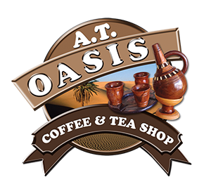 AT OASIS COFFEE AND TEA